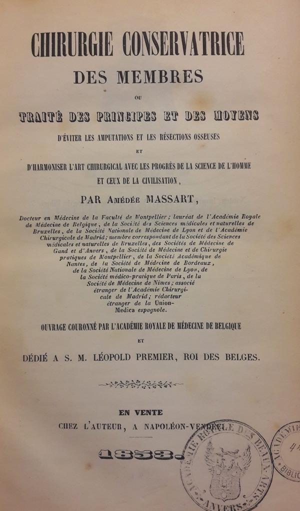 Amédée Massart - Chirurgie conservatrice des membres