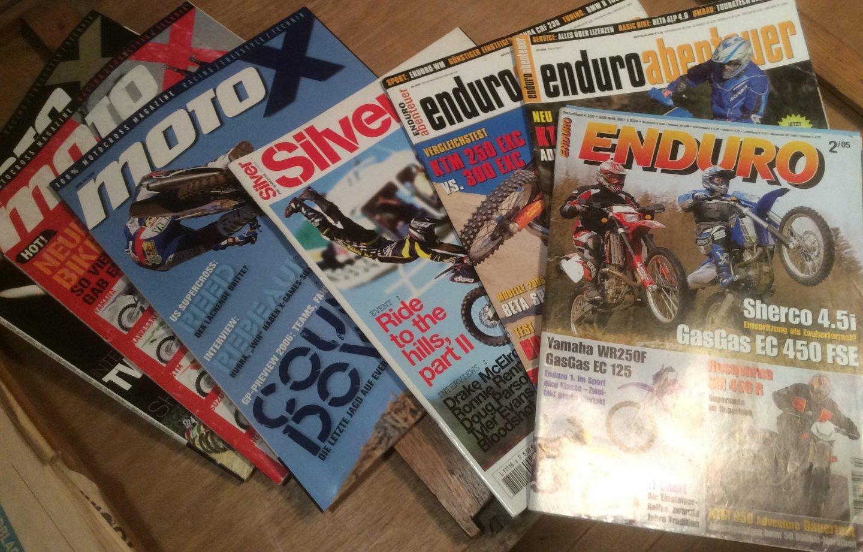Onbekend - Motocross en Enduro bladen duitstalig 7 stuks