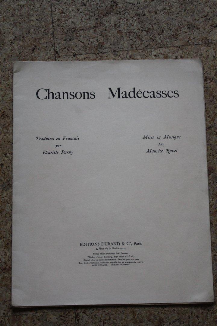 Chansons Madécasses. Editio...
