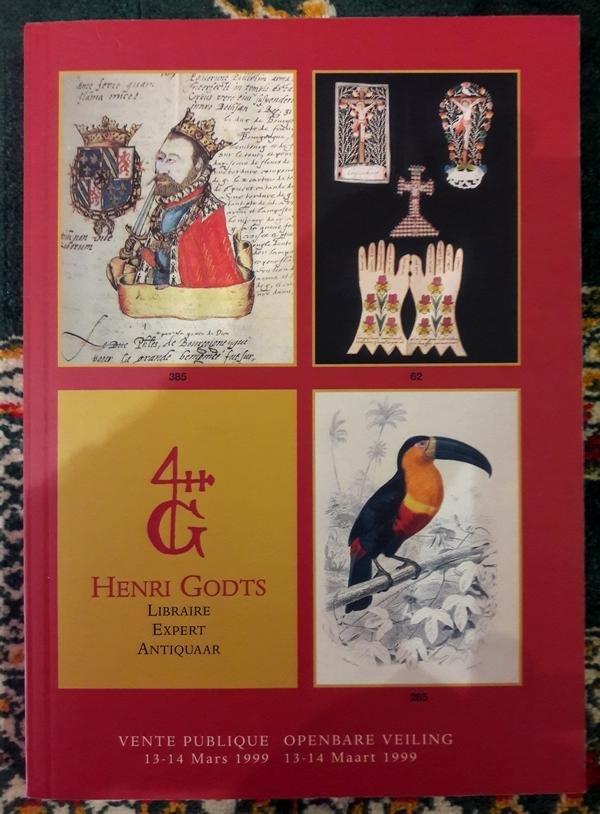Henri Godts - Boekveilingcatalogi Henri Godts