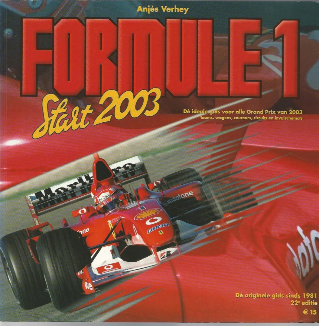 VERHEY, ANJES - Formule 1 Start 2003