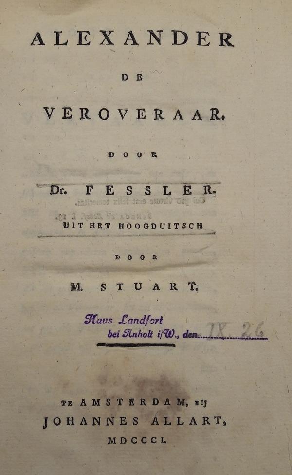 Fessler - Alexander de Veroveraar