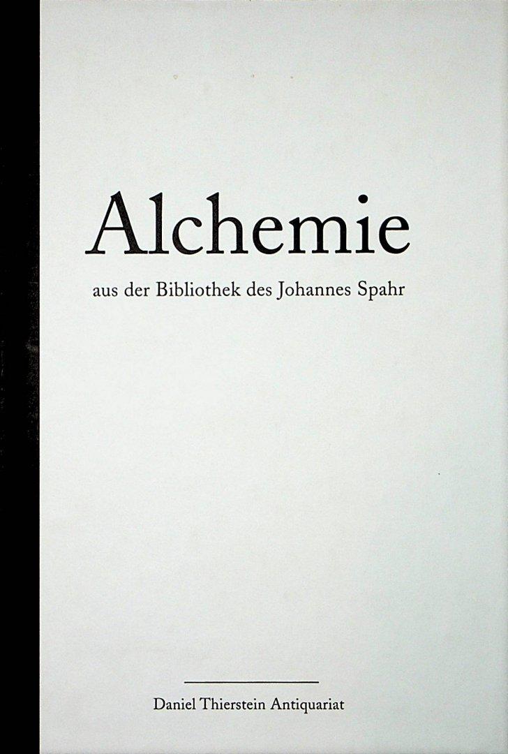 - Alchemie aus der Bibliothek des Johannes Spahr