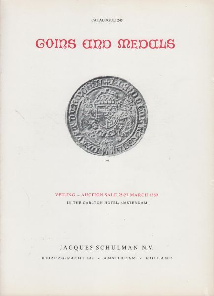 Fa. J. Schulman - Schulman veilingcatalogus 249 25-27 maart 1969 - Coins and medals.