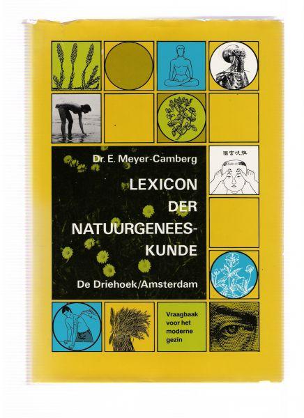 meyer-camberg, e. - lexicon der natuurgeneeskunde