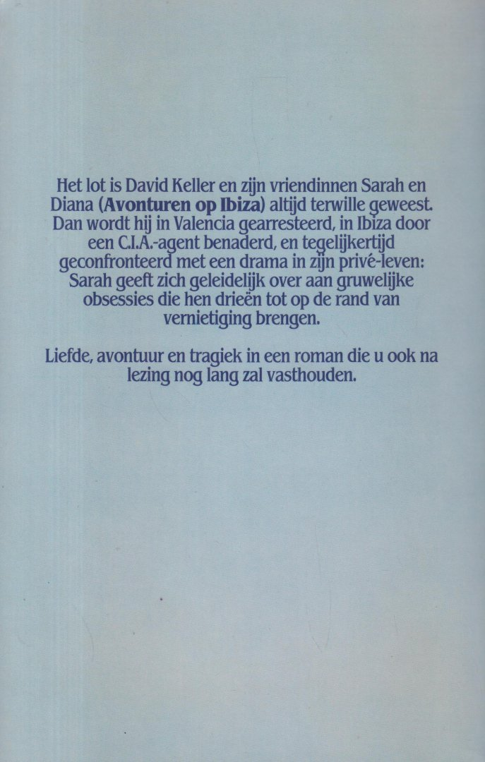Kars (Rotterdam, 22 maart 1940 - Amsterdam 10 november 2015), Theo - Een speling van de natuur. Roman. Het lot is David Keller en zijn vriendinnen Sarah en Diana altijd terwille geweest. Dan wordt hij in Valencia gearresteerd, in Ibiza door een CIA-agent benaderd en tegelijkertijd geconfronteerd met een drama.