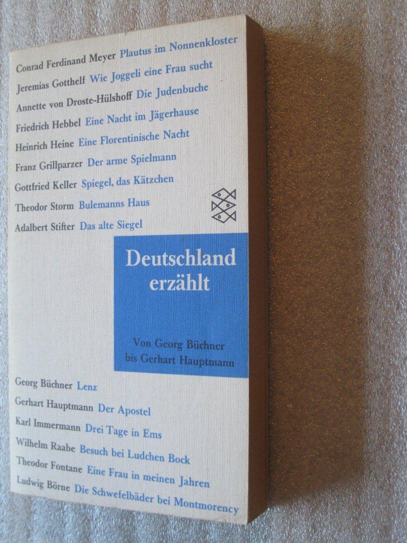 Buchner, Georg,  e.a. - Deutschland erzählt von Büchner bis Hauptmann