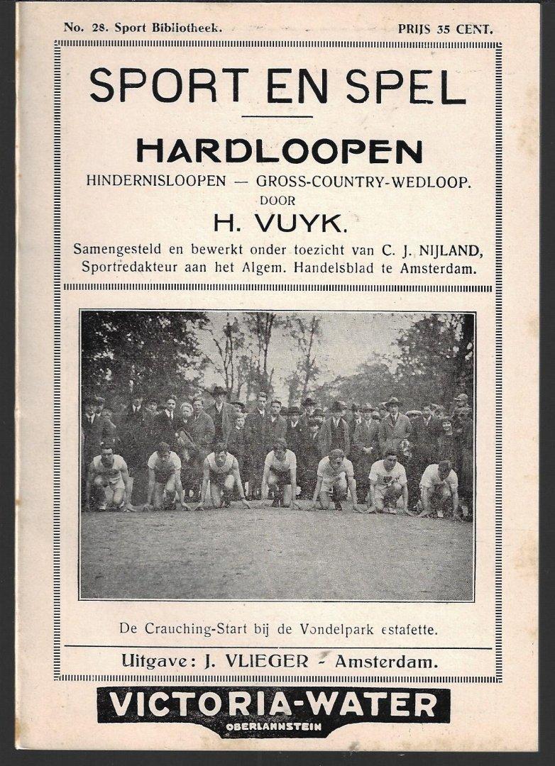 VUYK,H. - Sport en Spel Hardloopen -Hindernisloopen-cross-country-wedloop