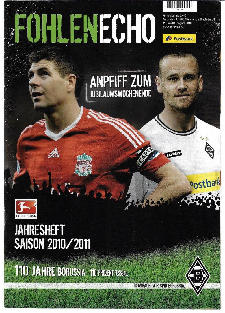 VERSCHIEDENEN - FohlenEcho juli/augustus 2010 Jahresheft Saison 2010-2011 Borussia Münchengladbach