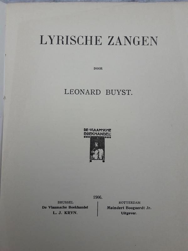 Leonard Buyst - Lyrische zangen
