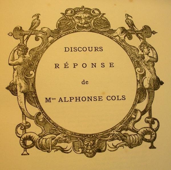 Alphonse Cols e.a. - A Maitre Alphonse Cols