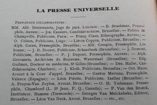 Jan Baptist Vervliet - La Presse Universelle
