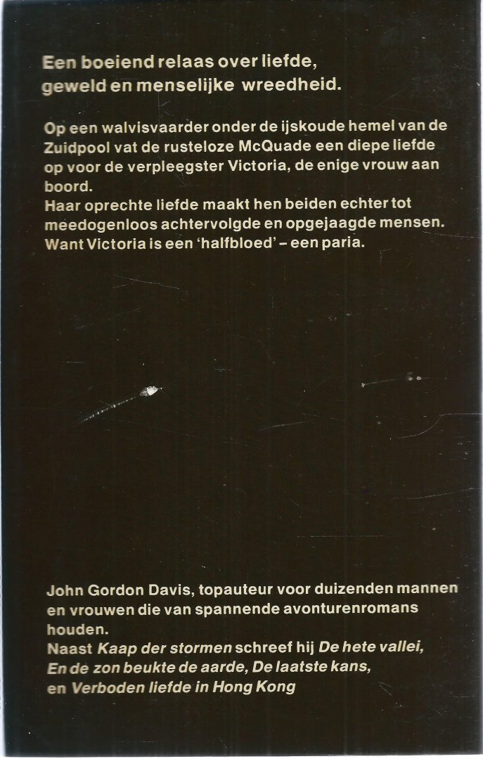 Davis, John Gordon - KAAP DER STORMEN - EEN BOEIEND RELAAS OVER LIEFDE, GEWELD EN MENSELIJKE WREEDHEID