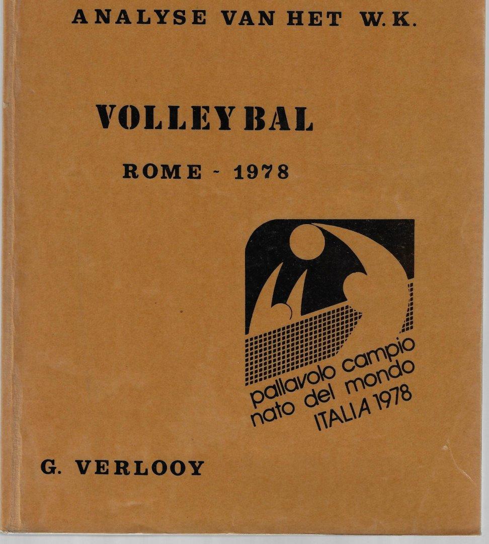 VERLOOY, G. - Analyse van het W.K. Volleybal Rome 1978 -Pallavolo Campio Nato del Mondo Italia 1978