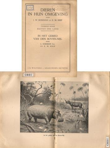 Boerman / Knip - Dieren  in hun omgeving, tweede serie: Buiten ons land.Bij de schoolplaat : In het gebied van den Boven -Nijl