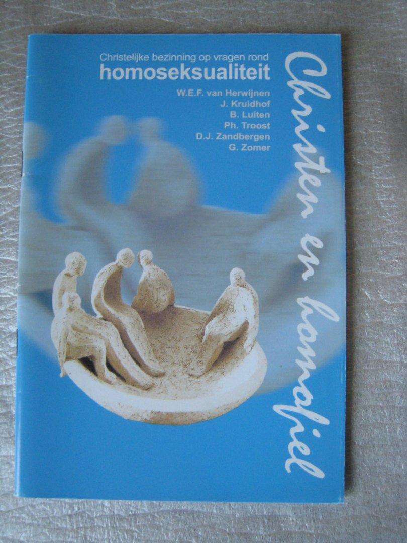 Herwijnen, W.E.F. / Kruidhof, J. / Luiten, B. / Troost, Ph. / Zandbergen, D.J. / Zomer, G. - Christelijke bezinning op vragen rond homoseksualiteit