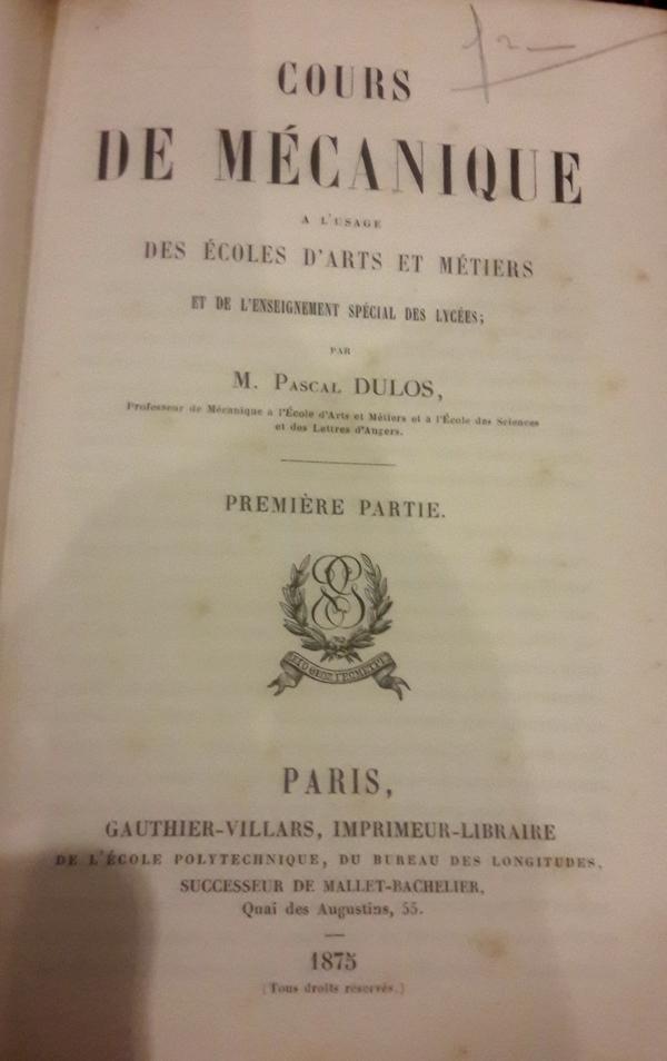 Pascal Dulos - Cours de Mécanique