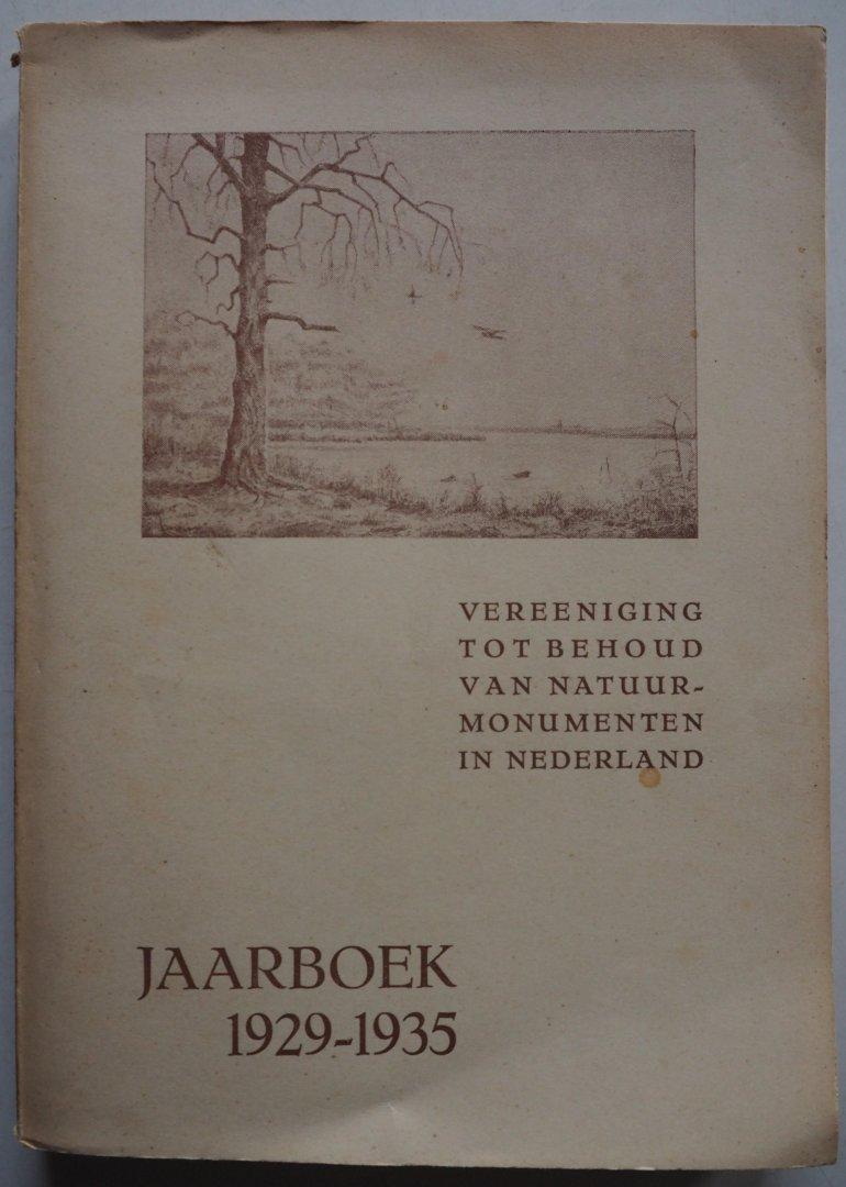 redactie collectief Illustrator : Savory e,a - Vereeniging tot Behoud van Natuurmonumenten in Nederland Jaarboek 1929-1935 Met bijlage voor machtigingkaart postgiro