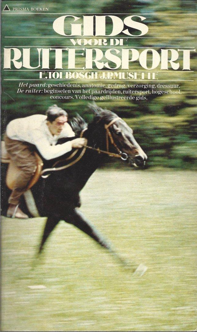 TOEBOSCH, E. EN MUSETTE, J.P. - Gids voor de ruitersport