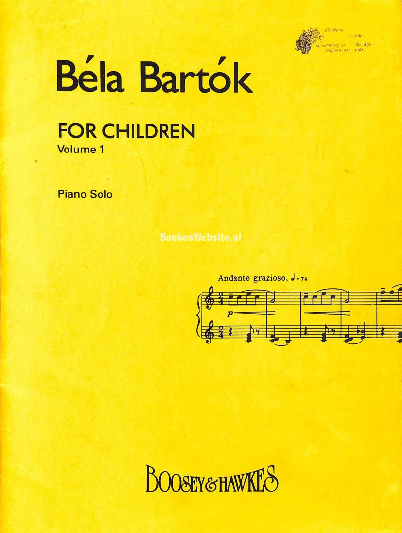 Bartok, Bela - Bela Bartok for Children vol. 1