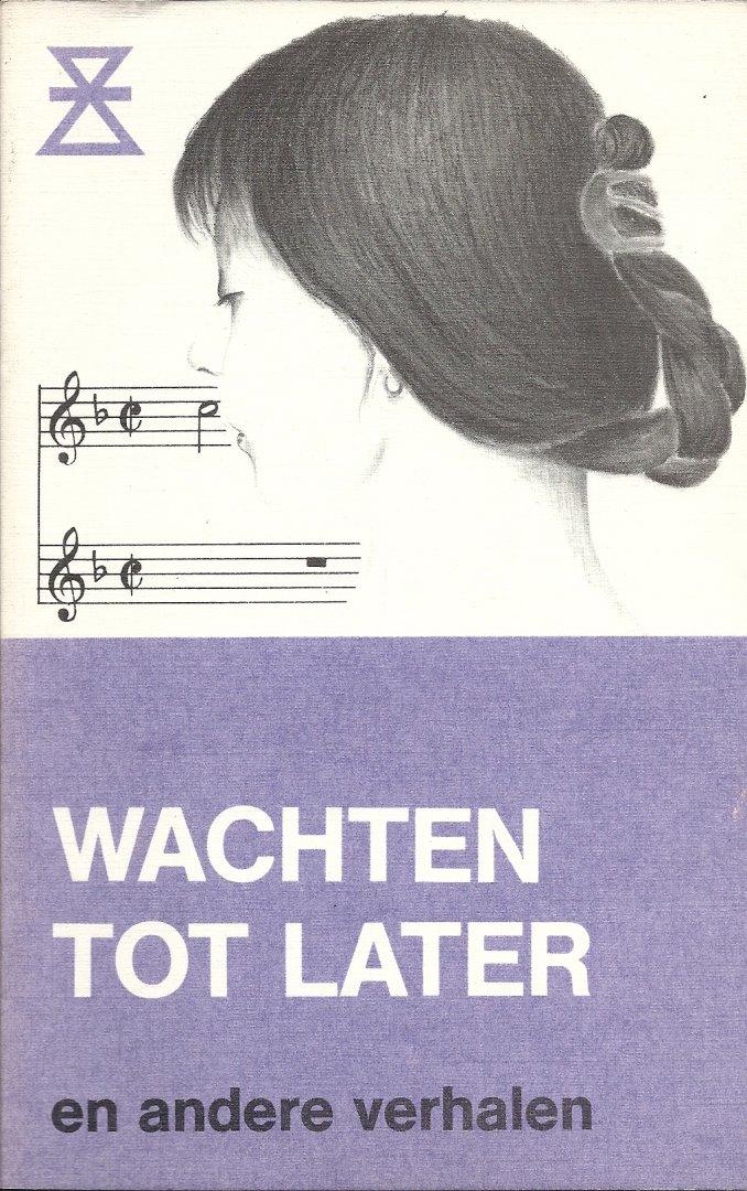 Coomans-van `t Veer, A. & M. Slot-den Hartog, H. Graaskamp, K. Tolk, C.M. Ort-Kleyn, R. Beskers, C.J. Tolk, J. ter Linde-Duenk, M.J. Klem-Maas e.v.a. (omslagtekening Willie Bosch) - Wachten tot later en andere verhalen - Twents-Achterhoekse reeks no. 38 (verhalenschrijfwedstrijd)