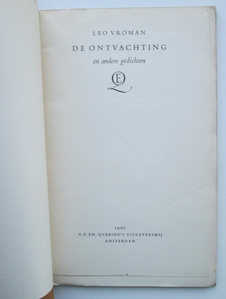 Boekwinkeltjesnl Leo Vroman De Ontvachting En Andere