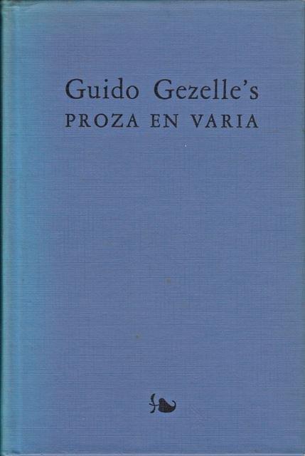 Baur, Fr. (samenst. en inl.) - Guido Gezelle`s proza en varia