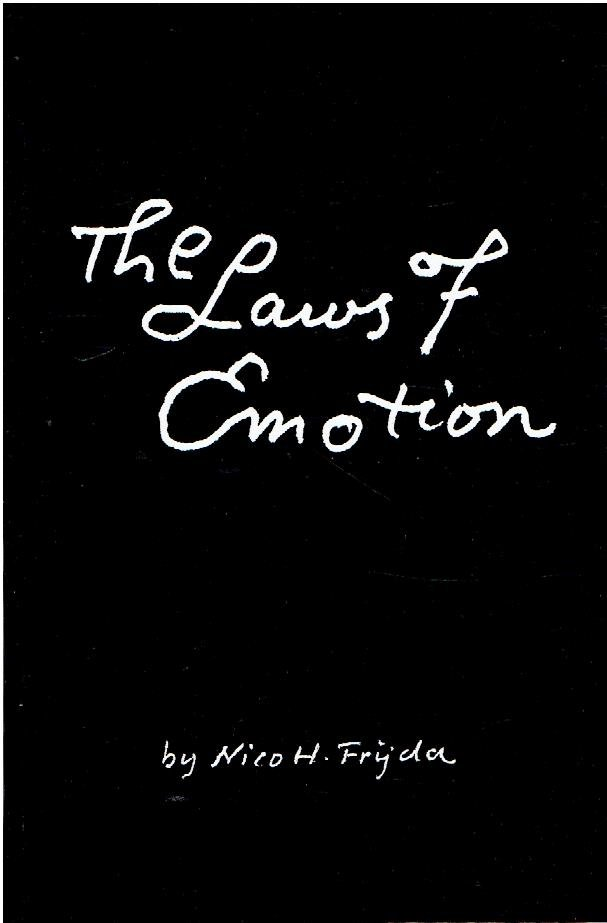 FRIJDA, Nico H. - The Laws of Emotion.