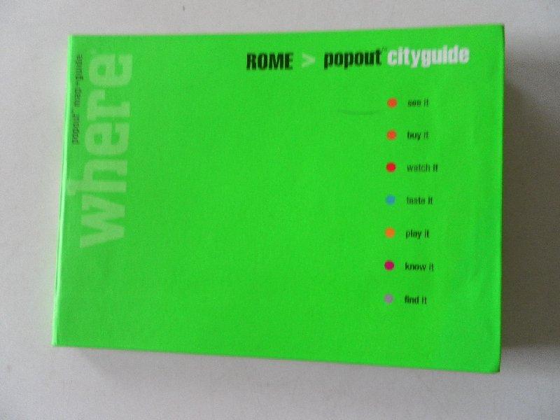 - Rome Popout cityguide map