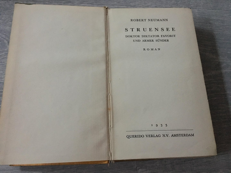 Robert Neumann - Struensee, Doktor Diktator Favorit und armer Sünder.