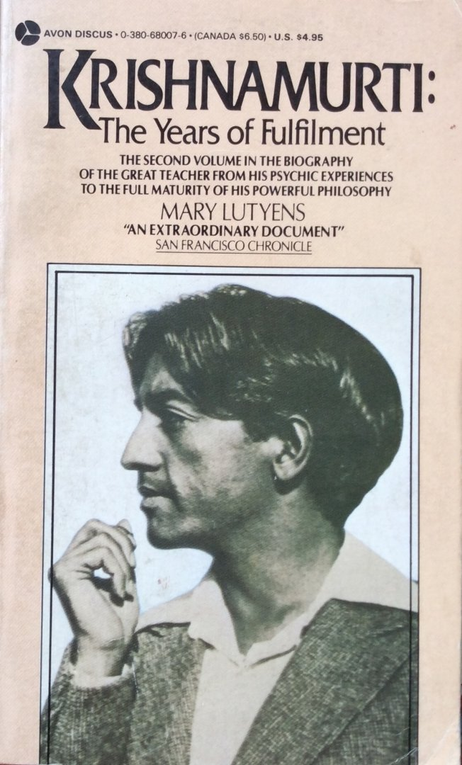 Lutyens, Mary - Krishnamurti: the years of fulfilment