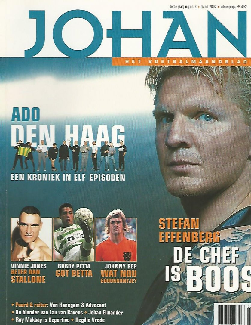 ZANDEN, ROB VAN DER - Johan - Het voetbalmaandblad - 2002