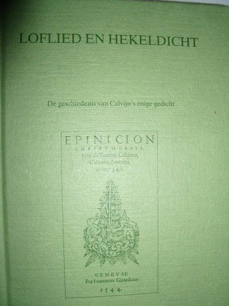 Boer, Drs. E.A. de - Loflied en hekeldicht