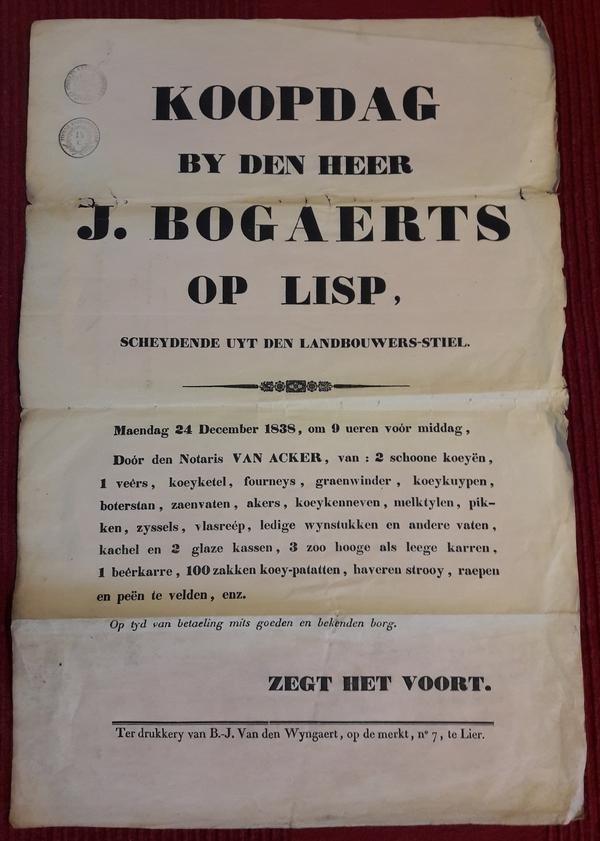 J. Bogaerts - Koopdag