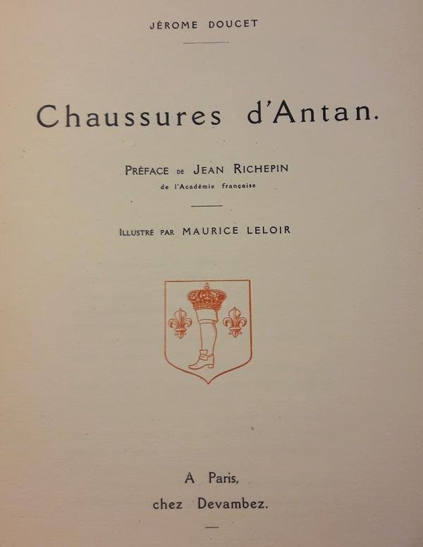 Jérôme Doucet - Chaussures d'Antan (schoenen van vroeger)