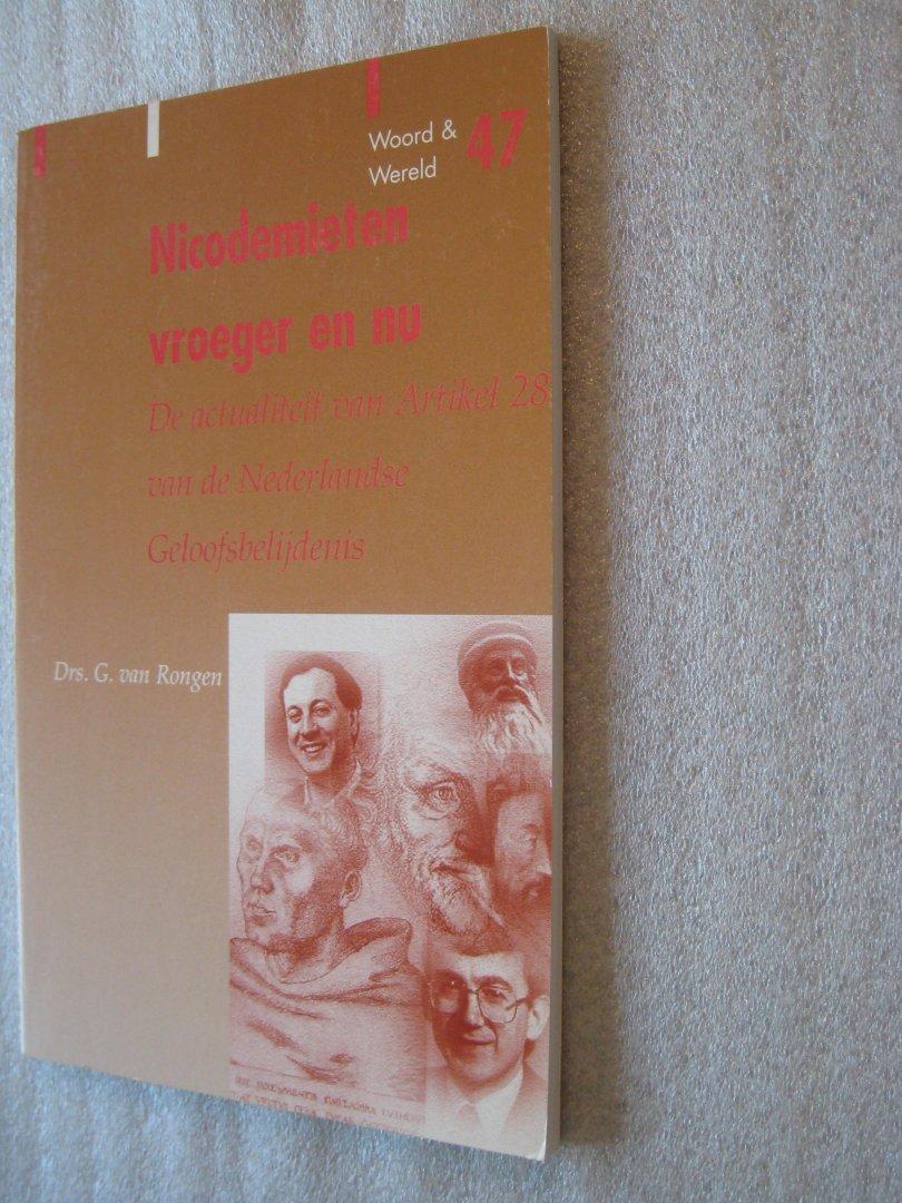 Drs. G. van Rongen - Nicodemieten vroeger en nu