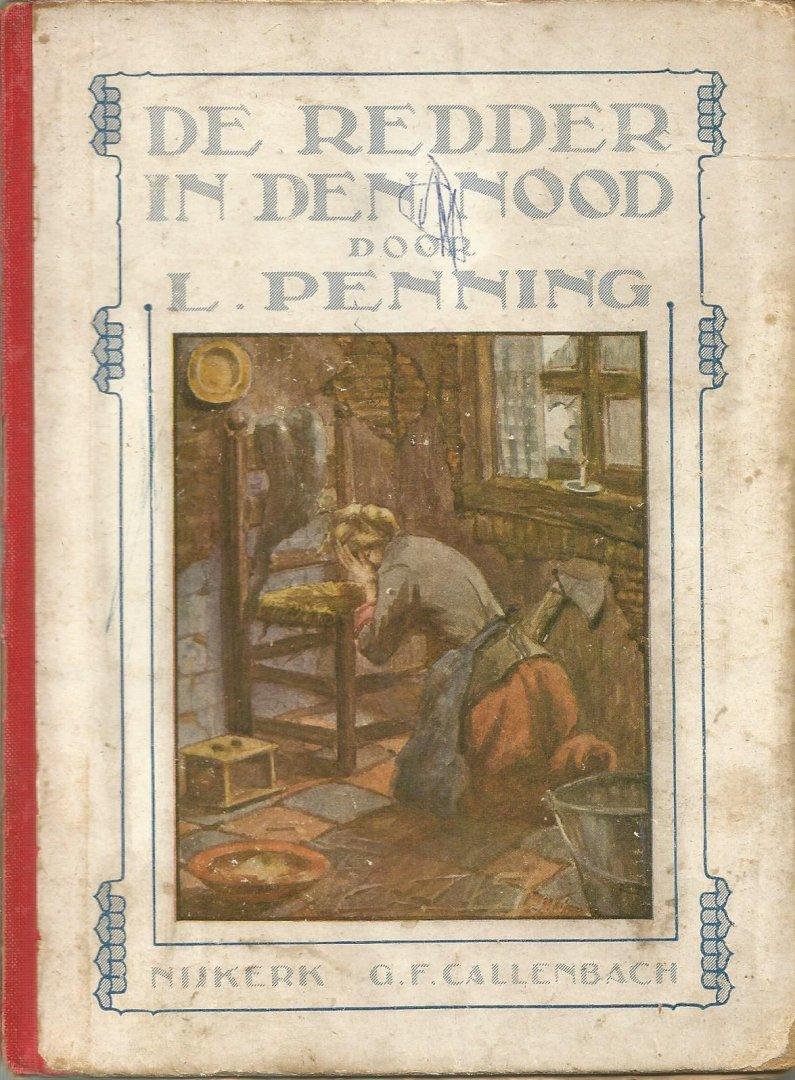 Penning  L.  ill. O. Geerling - De redder in den nood
