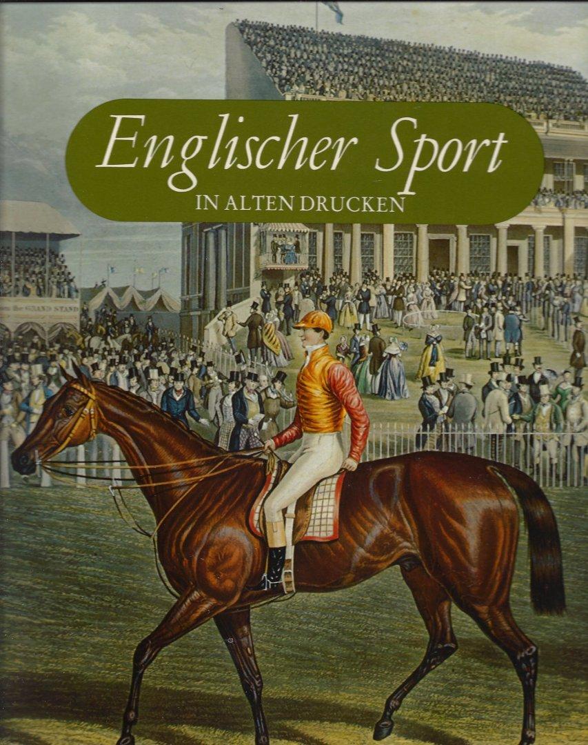 WILDER F.L. - Englisher  Sport in  Alten Drücken