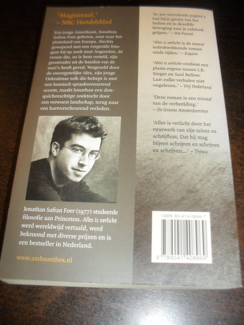 Boekwinkeltjes.nl - Foer, Jonathan Safran - Alles is verlicht ...