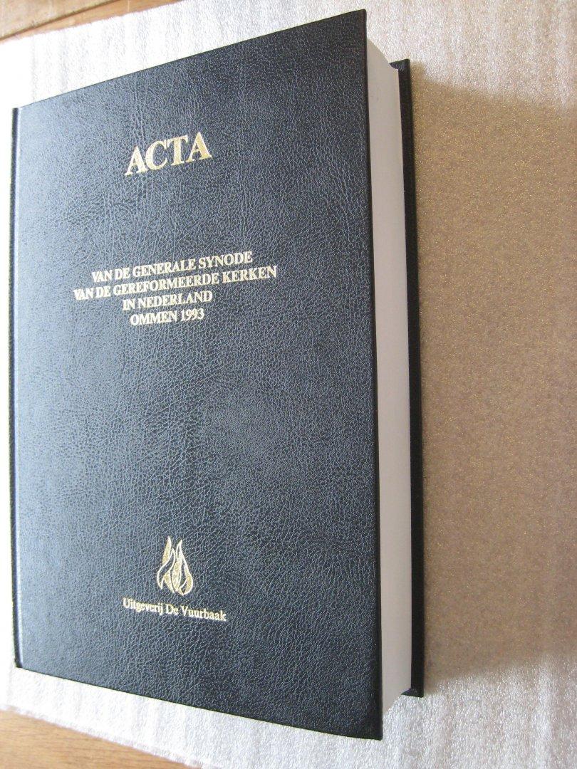 Gereformeerde Kerken in Nederland - Acta van de Generale Synode van de Gereformeerde Kerken in Nederland Ommen 1993