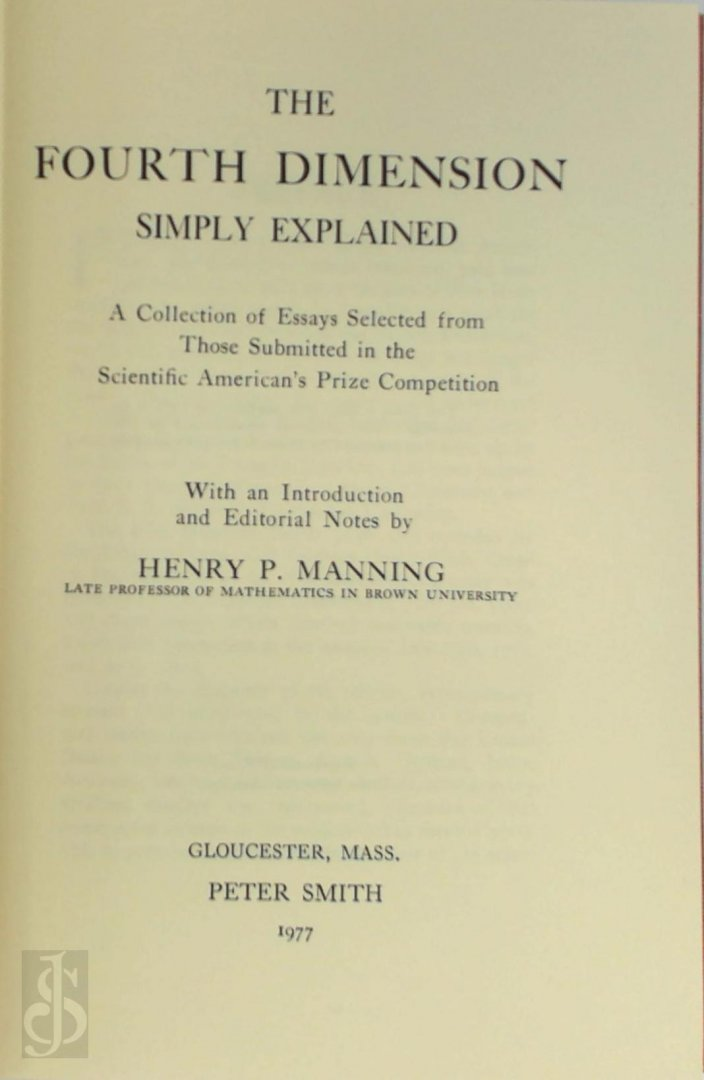 Henry P. Manning - Fourth Dimension Simply Explained A Collection of Essays Selected from Those Submitted in the Scientific American's Prize Competition