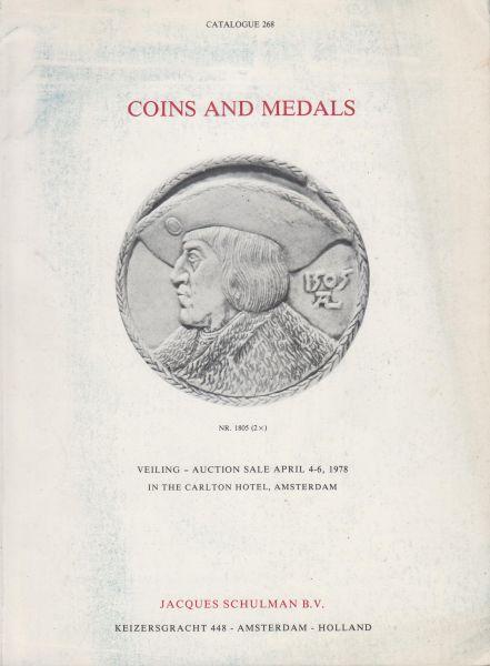 Fa. J. Schulman - Schulman veilingcatalogus 268 4-6 april 1978 - Coins and Medals.