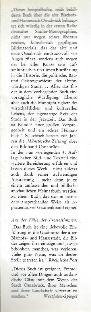 Poppe-Marquard, Dr. H. (Vorwort) - OSNABRÜCK - SCHÖNE ALTE STADT ZWISCHEN TEUTOBURGER WALD UND WIEHENGEBIRGE