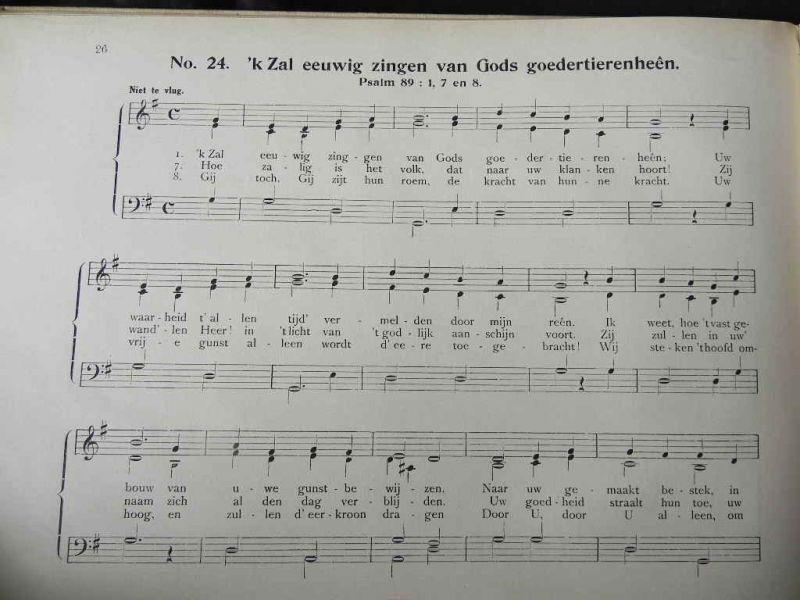 Boekwinkeltjes christelijke liederen voor harmonium