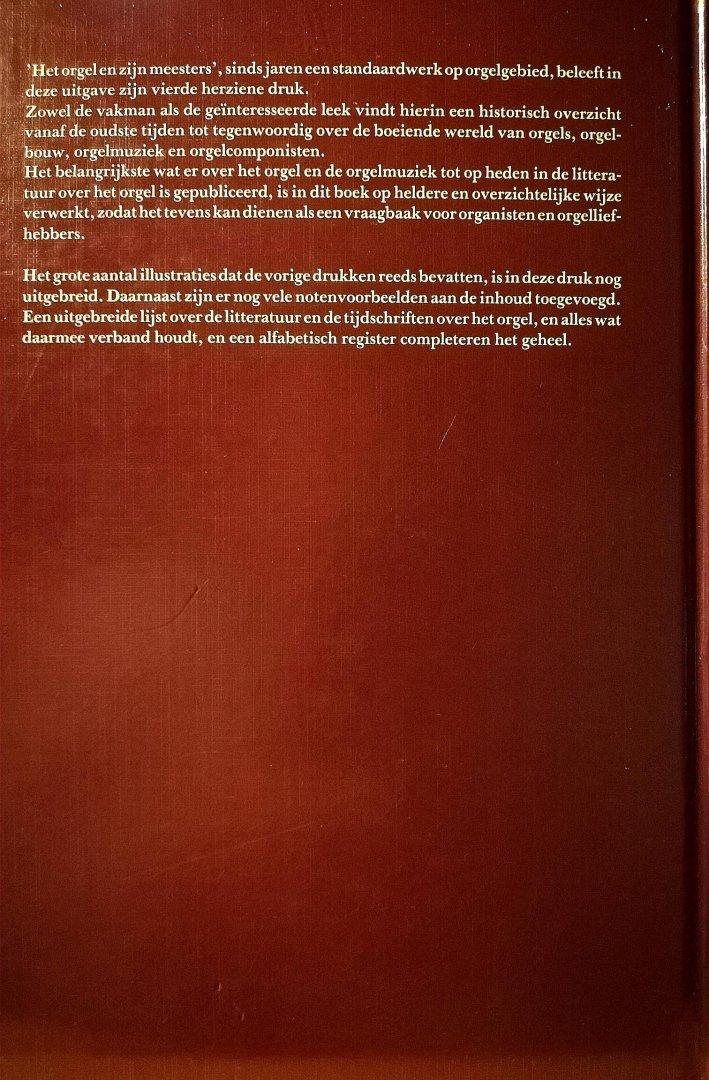 Wely , Max A .Prick van .  [ isbn 9789023304623 ] 5317 - Het  Orgel  en  Zijn  Meesters  . ( Dit boek beschrijft de geschiedenis van het orgel en de orgelmuziek. Begonnen wordt bij de voorlopers van het orgel zoals bekend uit oude geschriften en afbeeldingen en geeindigd wordt met een overzicht van de -
