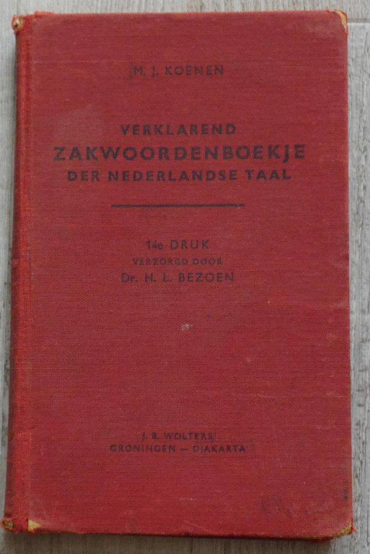 Dr. H.L. Bezoen - Verklarend zakwoordenboekje der Nederlandse taal