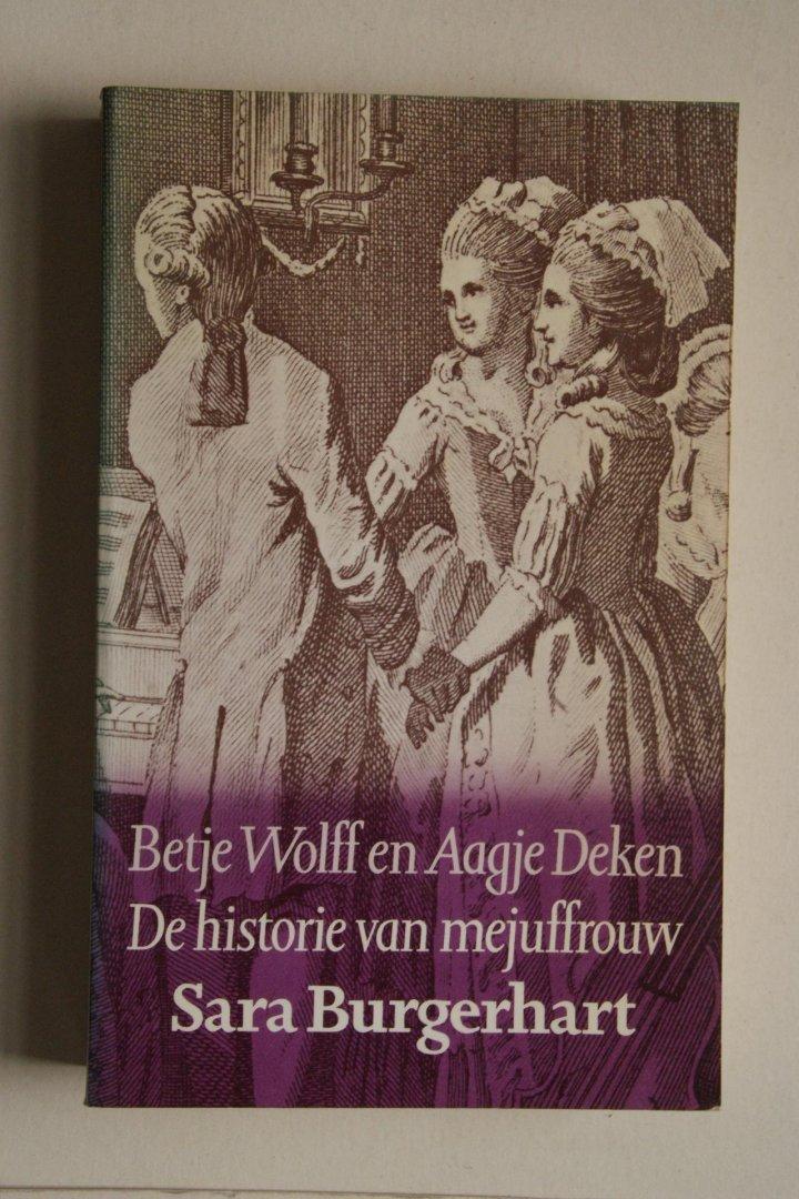 Wolff, Betje; Deken, Aagje - bellettrie: DE HISTORIE VAN MEJUFFROUW SARA BURGERHART
