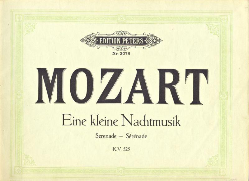 Mozart, W.A. - Eine kleine Nachtmusik: Serenade KV525 für 2 Violinen, Viola, Violoncell und Kontrabas, für Pianoforte zu 4 Händen arrangiert von Otto Singer
