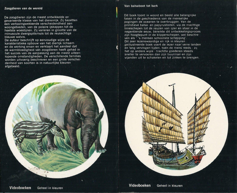 Evans, I. O., Eileen Aldridge, Michael Boorer, G. Goldsmith-Carter - VIDEOBOEKEN GEHEEL IN KLEUR. 4 boeken t.w. 1. ONZE PLANEET DE AARDE. 2. PORSELEIN VAN ALLE LANDEN. 3. ZOOGDIEREN VAN DE WERELD. 4. VAN BALSABOOT TOT BARK - DE DELEN 2, 11, 17 EN 19 VAN DE SERIE