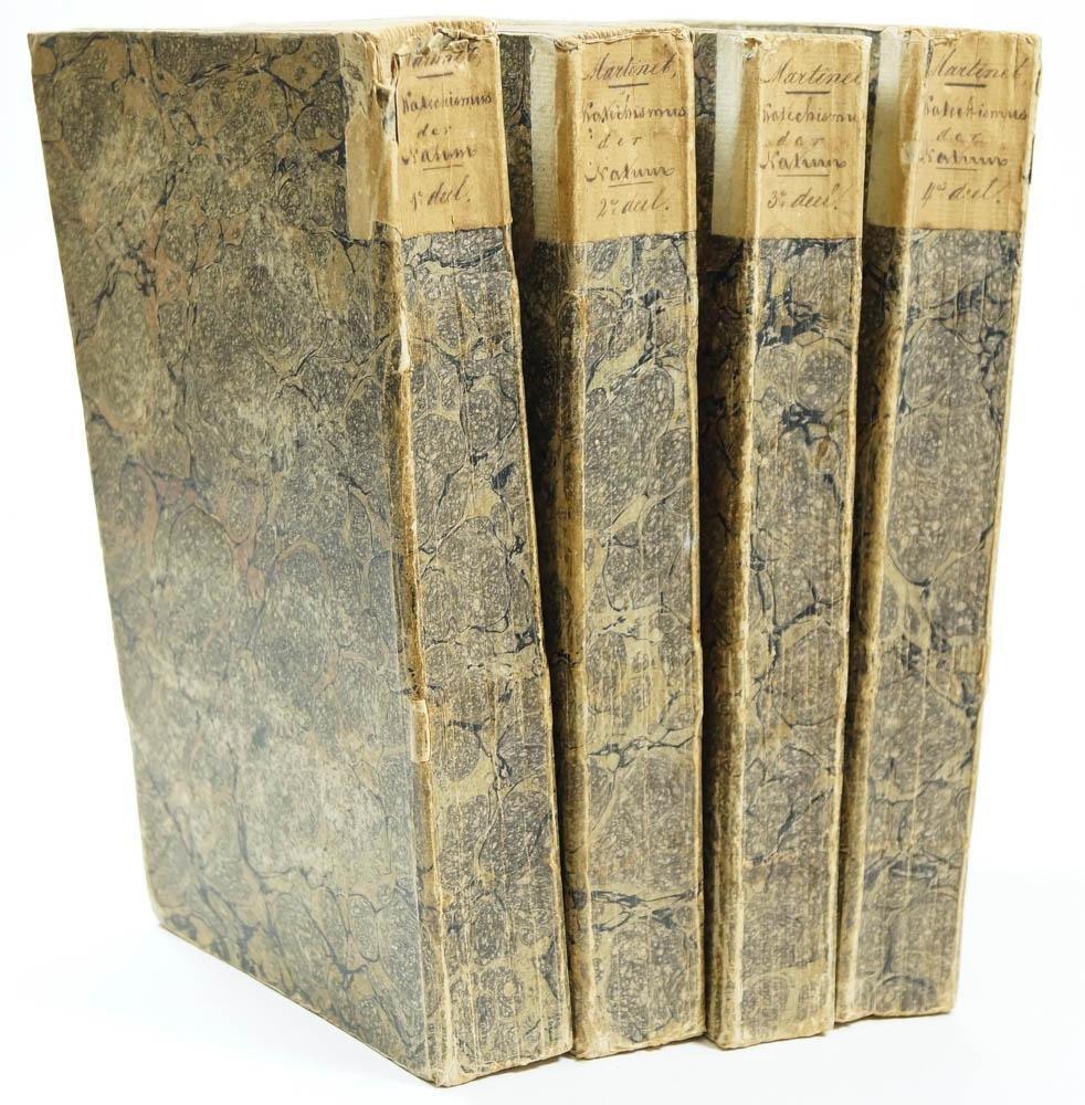 MARTINET, J.F. - Katechismus der natuur. Zesde, aanmerkelijk vermeerderde, en naar den tegenwoordigen staat der natuurkennis verbeterde druk. Met platen. 4 delen compleet.